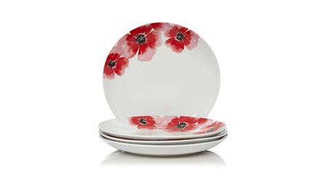 poppy plates set george home poppy dinner plates set of 4 dining george at asda