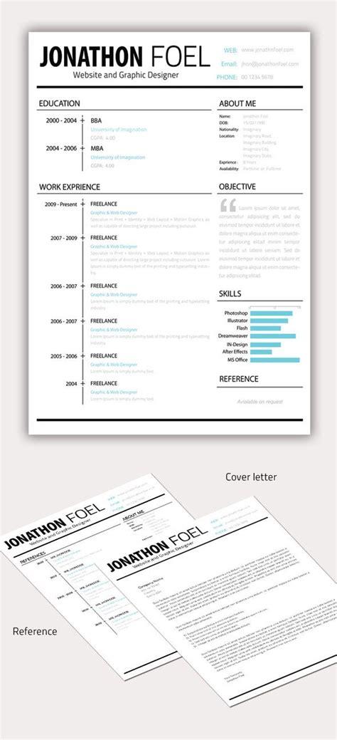 minimal resume cv template graphic resume resume styles