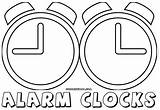 Alarm Clock Coloring Pages sketch template