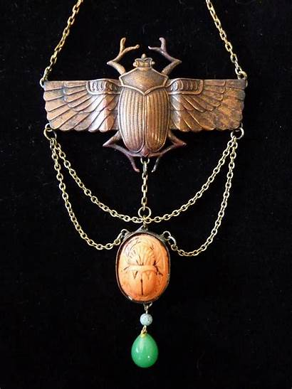 Egyptian Revival Jewelry Necklace Deco Egypt Ancient