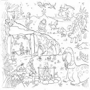 dinosaur adventure colouring in poster by really