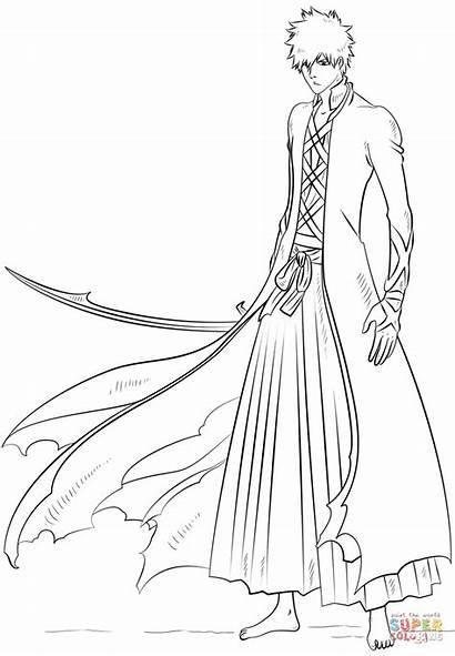 Ichigo Bleach Coloring Pages Anime Kurosaki Draw