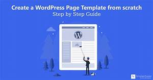 How to create a wordpress page template from scratch step for Create a new page template wordpress