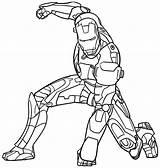 Coloring Iron Printable Ironman Popular sketch template