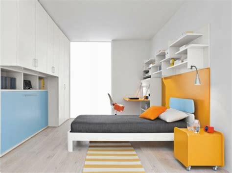 chambre ado contemporaine chambre orange et bleu chambre enfant meubles en vert