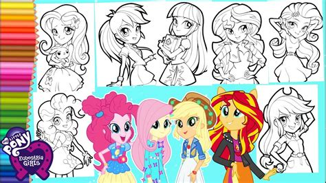 coloring   pony  equestria girls compilation