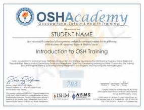 OSHA Safety Training Certificate Template