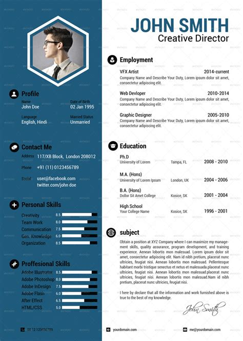 simple and attractive resume 25 attractive print and resume templates