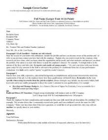 cover letters for employment exles cover letter sle employment