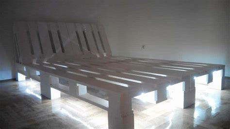 underlit pallet double bed  pallets