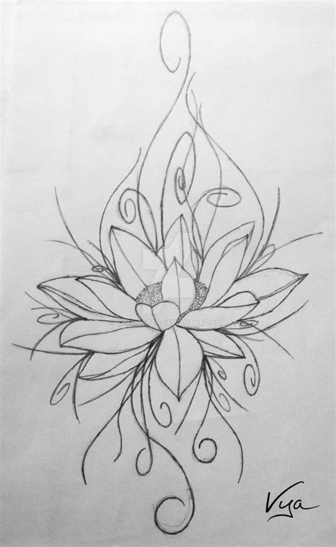 Flower tattoo design by Vyamester   Flower tattoo designs, Water lily tattoos, Lily tattoo