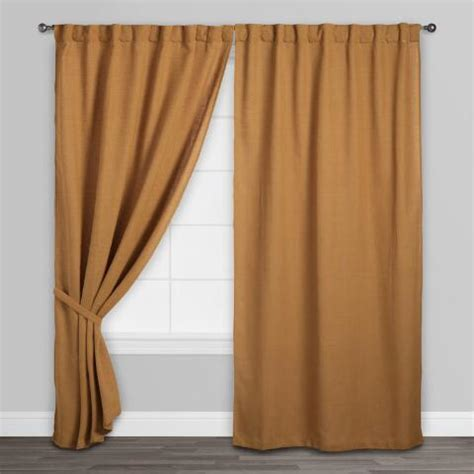 gold concealed tab top curtains set of 2