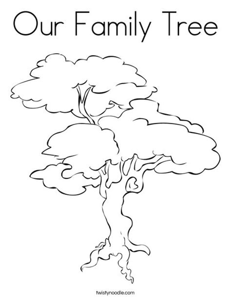 Family Tree Template For Pages by Our Family Tree Coloring Page Twisty Noodle