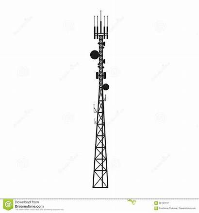 Tower Antenna Mast Mobile Clipart Telecommunication Vector
