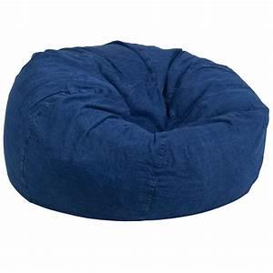Denim, Bean, Bag, Chair, Dg