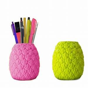 Pot A Crayon : pot crayons ananas ~ Teatrodelosmanantiales.com Idées de Décoration