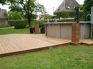 Sol Pour Terrasse : terrasse en bois pour piscine hors sol ~ Edinachiropracticcenter.com Idées de Décoration