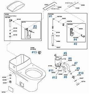 Kohler Trocadero Series Toilet Repair Parts And Schematics