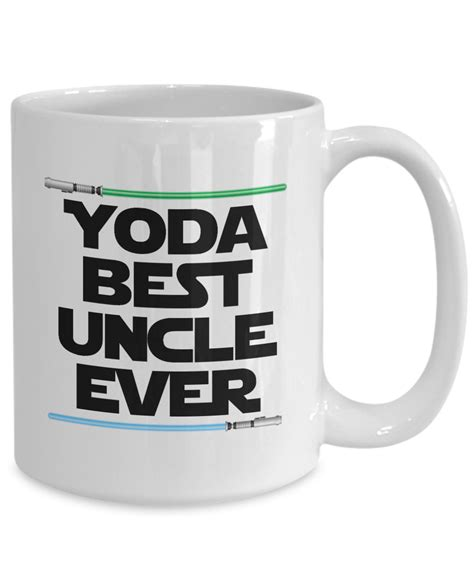 Keep your coffee hot for longer periods of time and score high on the robustness scale. Yoda Best Uncle Birthday Gift Mug Nerd Star Wars Coffee Cup Lightsaber   eBay