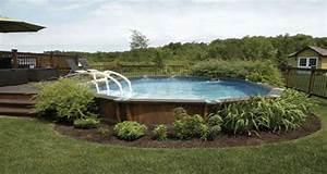 Aménagement déco pour une piscine hors sol