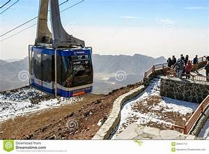 Teleferico Cable-car Vagon Going Up To Peak Of Teide ...