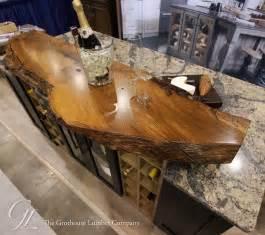kitchen islands with butcher block tops live edge wood countertop of wych elm in medina ohio