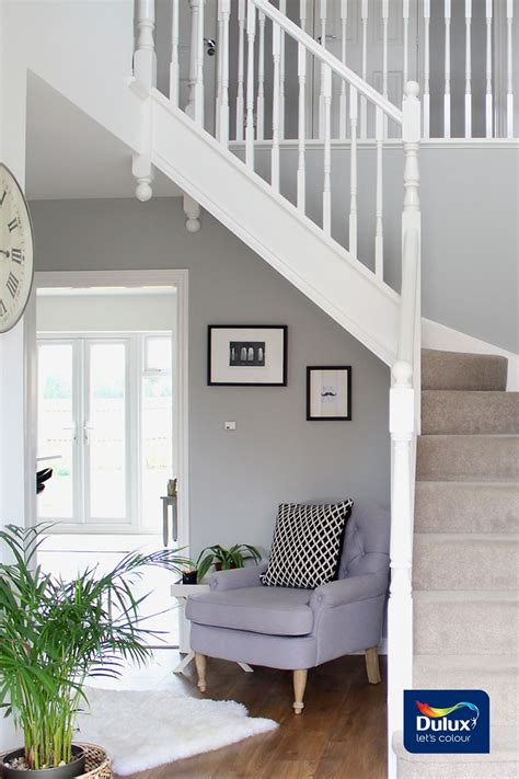 A White And Wood House For A Stylish Family by Jess Created This Stylish Hallway Using Dulux In Chic