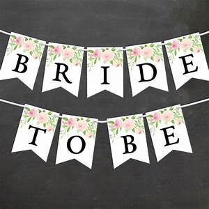 watercolor floral bridal shower banner diy printable With diy wedding banner templates