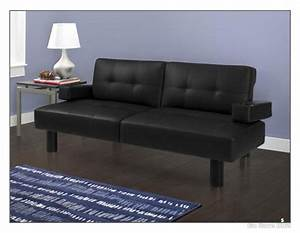 modern futon sofa bed mainstays faux leather armrests With black faux leather futon sofa bed