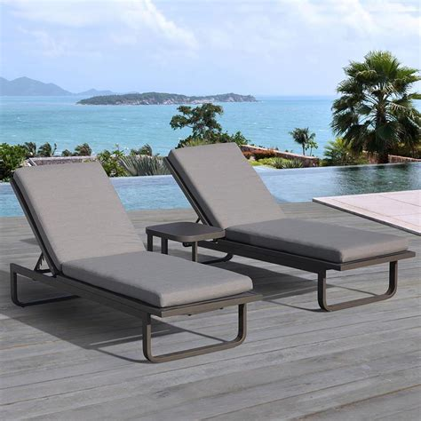 chaise lounge chairs outdoor shop ove decors vienna 2 count aluminum patio chaise