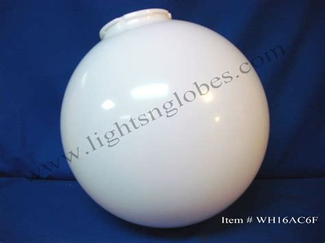 16 quot acrylic white plastic globe outdoor light