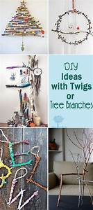 Hanging Chart Holders Diy Ideas With Twigs Or Tree Branches Hative