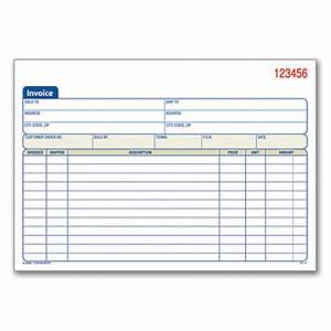 adams 3 part carbonless invoice book 8 716 x 5 916 With adams invoice book 3 part