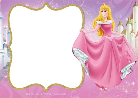 princess aurora birthday invitation template