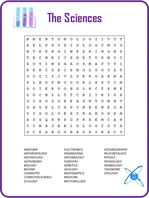 knowledgeable science word search kittybabylovecom