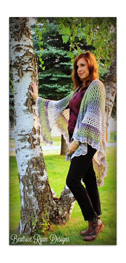 Crochet Pattern Shawl Beatriceryandesigns Wing Grace Angel