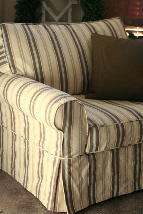 oversized chair slipcover custom slipcovers by shelley striped oversized chair