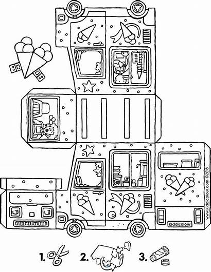 Van Ice Cream Colouring Own Kiddicolour Pages
