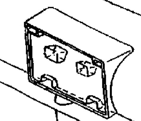 dodge viper front license plate bracket  viper parts rack america