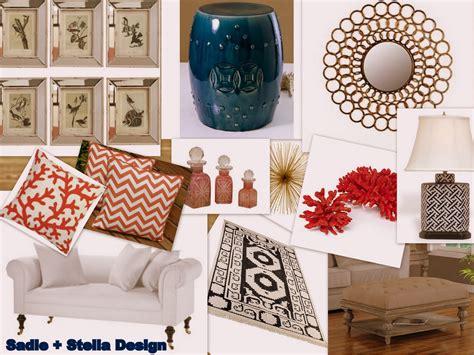 sadie stella ss  design coral navy