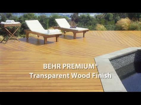 behr premium transparent weatherproofing    wood