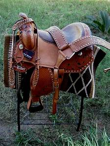 Horse Western Barrel Show Pleasure LEATHER SADDLE Bridle 50104