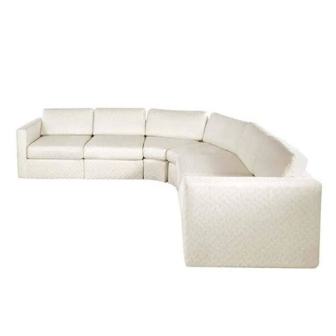 semi circular six sectional sofa by milo baughman