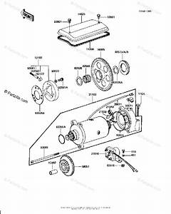 Kawasaki Motorcycle 1982 Oem Parts Diagram For Starter