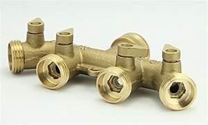 A1007 3yr Warranty Heavy Duty Brass 4 Way Garden Hose Shut