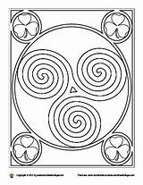 Coloring Irish Spiral Colouring Dancing Dance Step Celtic sketch template