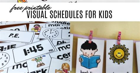 visual schedule printables   kids  daily