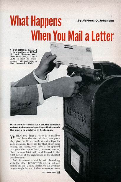 Mail Letter Postal Magazine Happens Science 1951