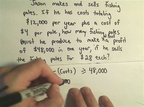 solving word problems involving inequalities