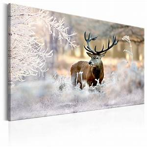 Bilder Natur Leinwand : wandbilder xxl natur wald hirsch winter leinwand bilder wohnzimmer g c 0057 b b ebay ~ Markanthonyermac.com Haus und Dekorationen